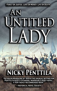 The events around Peterloo are the setting fothe final act in An Untitled Lady.